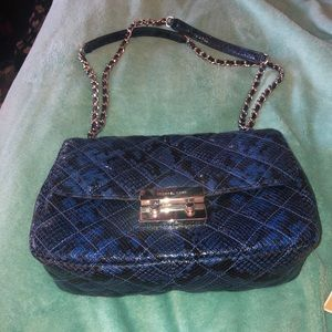 Micheal kors blue snake skin bag